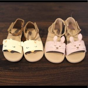 NWOT Old Navy Bunny and Chick Sandals
